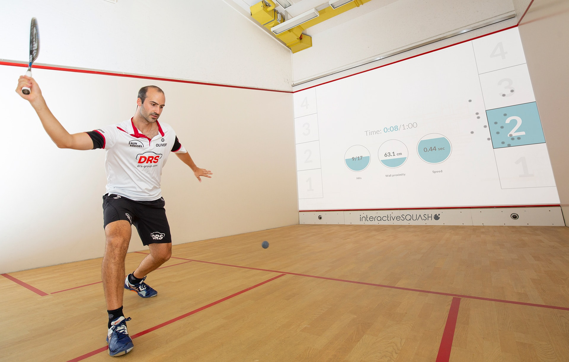 interactiveSQUASH is available with CourtTech now!