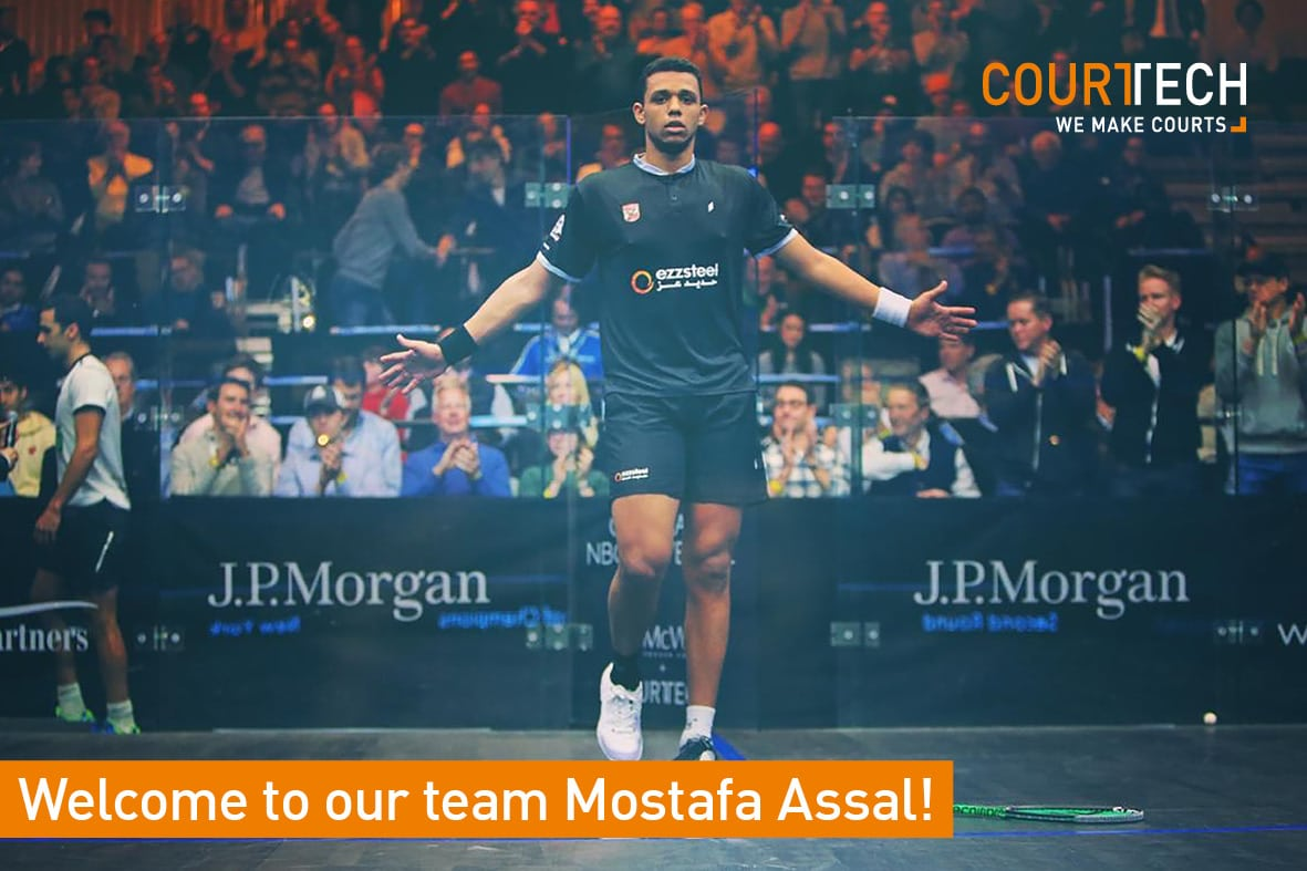 We're happy to welcome professional squash player Mostafa Assal to our team!
